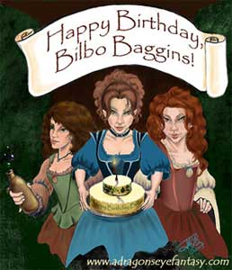 Happy Birthday Bilbo Baggins from your friends around Middle Earth